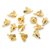 Crafts Liberty Bell Gold 3/8 inch 12 pieces