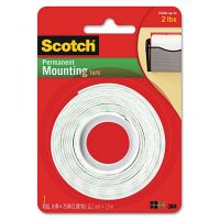 Scotch Foam Mounting Double-Sided Tape, 1/2 Wide x 75 Long