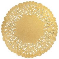 Hygloss 8-Inch Round Gold Doilies, 12-Pack