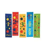 Honorable Mention White Award Ribbons, 1 dozen