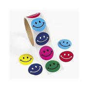 Smile Face Roll of Stickers