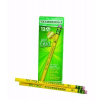 My First Ticonderoga Primary Size #2 Beginner Pencils, Box of 12, Yellow (13308)