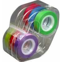 Lee Removable Highlighter Tape, 1 Roll of Each of 6 Standard Colors, 1/2-Inch Wide x 720-Inch Long, With Dispenser ,13888