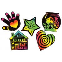 Melissa & Doug Scratch Art Scratchin' Shapes Group Pack Etching Activity  1404