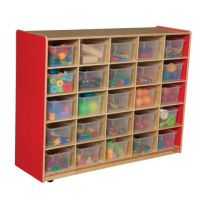 WoodDesigns, 25 Tray Storage Red with Translucent Trays, WD16001R