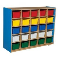 WoodDesigns, 25 Tray Storage Blue with Assorted Trays, WD16003B