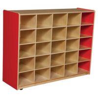 WoodDesigns, 25 Tray Storage Red without Trays, WD16009R