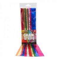 Hygloss Gummed Paper Shape Embossed Metallic Chain 1
