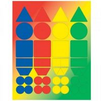 Hygloss Basic Shapes Stickers 3 Sheets (1820)