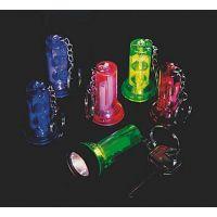 Plastic Large Beam Flashlight Key Chains, 12 units