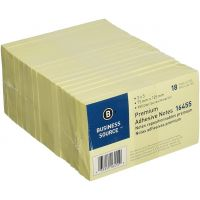 Adhesive Notes 3 x 5 Inches, Pack of 12 Pads of 100