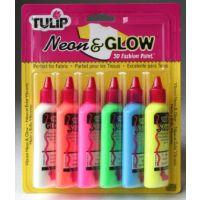 Tulip Neon & Glow 3D Fashion Paint, 1.25-Ounce,  19674 Dimensional 6-Pack