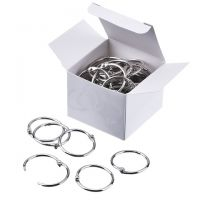 Loose Leaf Rings, 0.75 Inch Diameter, Silver, 100/Box