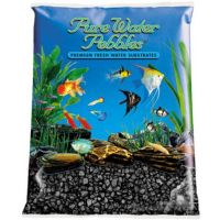 Black Aquarium Natural Gravel,  Acrylic Color - 5 LBS Bag