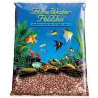 Brown Aquarium Natural Gravel,  Acrylic Coating - 5 LBS Bag