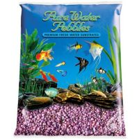 Burgundy Aquarium Natural Gravel,  Acrylic Coating - 5 LBS Bag