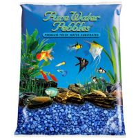 Dark Blue Aquarium Natural Gravel,  Acrylic Color - 5 LBS Bag