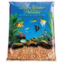 Orange Aquarium Natural Gravel,  Acrylic Coating - 5 LBS Bag