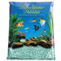 Turquoise Aquarium Natural Gravel,  Acrylic Coating - 5 LBS Bag