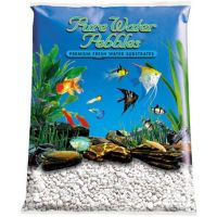 White Aquarium Natural Gravel,  Acrylic Color - 5 LBS Bag