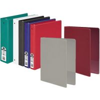 3-Ring Vinyl Binder, 2-Inch Ring Size, Assorted Colors , 11 x 8.5 Inches 12 pack