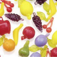 Acrylic Beads - Multi Fruit Shapes - Assorted Colors - 375 pieces