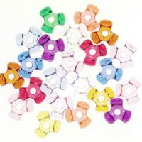 Acrylic Tri Beads Transparent Colors 11mm  1 lb Big Value