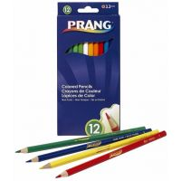 Prang Thick Core Colored Pencil Set, 3.3 Millimeter Cores, 7 Inch Length, 12 Pencils, Assorted Colors (22120)