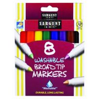 Sargent Art 8-Count Washable Broad Conical Tip Assorted Set 22-1550
