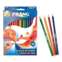 Prang Thick Core Colored Pencil Set, 3.3 Millimeter Cores, 7 Inch Length, 36 Pencils, Assorted Colors (22360)