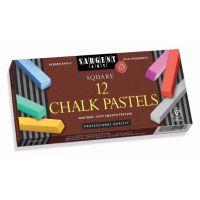 Sargent Art  Colored Square Chalk Pastels, 12 Count,  22-4112