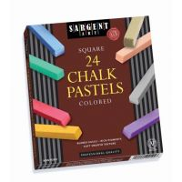 Sargent Art Colored Square Chalk Pastels, 24 Count 22-4124