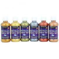 Sargent Art 22-5099 8-Ounce Metallic Tempera Set of 6-Paints