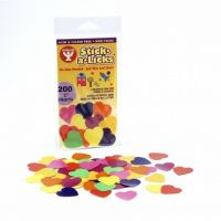 Hygloss Gummed Paper Shape Stick-A-Licks Hearts 1
