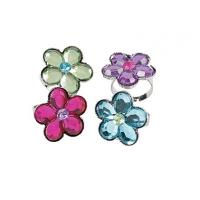 kids Adjustable Flower Jewelry Rings , 12 units