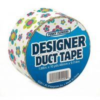 Just for Laughs JFL2515 Duct Tape, 10-Yard, Funky Flowers