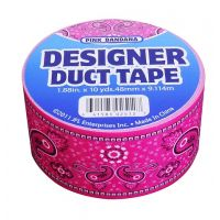 Just for Laughs JFL2534 Duct Tape, 10-Yard, Pink Bandana