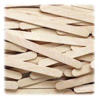 Natural Wood Craft Sticks By The Case - 4-1/2