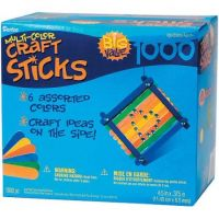 Colored Wood Craft Sticks - 4-1/2