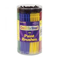 Chenille Kraft Canister of Paint Brushes , 144 CT, Assorted