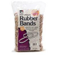Charles Leonard Rubber Bands, #54, Assorted Sizes Beige/Natural 1 pound Bag