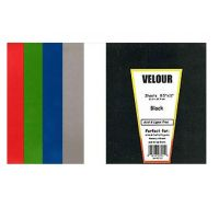 Hygloss Velour Poster Board Red - 8.5