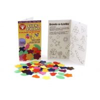 Hygloss Gummed Paper Shape Stick-A-Licks Flowers & Leaves, 2000 Economy Pack (3120)