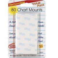 80 Chart Mounts Removable, 1