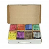 Prang Crayon Master Pack, Large Size, Box of 400 Crayons, 50 of Each Color, 8 Assorted Colors (32351)