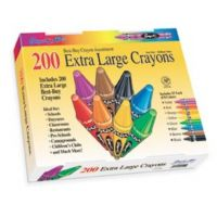 Sargent Art 200-Count Extra Large Crayon, Best Buy Assortment 55-3245