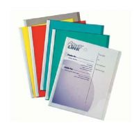C-Line Report Covers with Binding Bars, Assorted Colors Plastic, White Bars, 8.5 x 11 Inches, 50 per Box , 32450