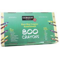 Sargent Art 800-Count Regular Crayon, Best Buy Assortment 55-3280