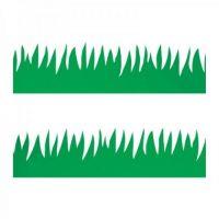 Hygloss Classroom Die Cut, Green Grass Border, 3 x 36-Inch 12-Pack, 33601
