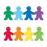 Hygloss Classroom Die Cut, Rainbow People Border, 3 x 36-Inch 12-Pack, 33606